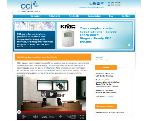 Control Consultants - Homepage Design