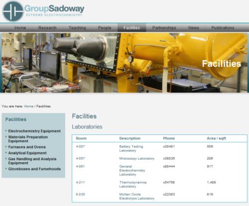 Group Sadoway - Facilities