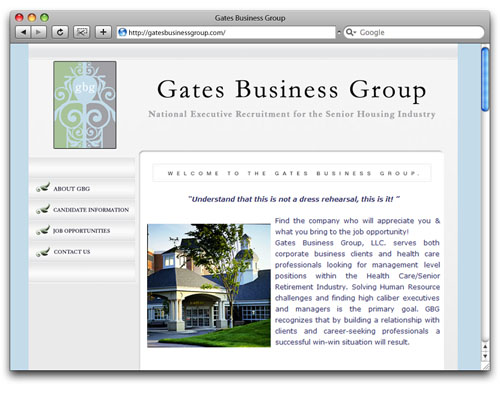 Gates Business Group - Homepage Design