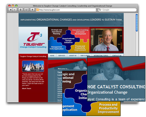 Taugher Change Catalyst Consulting - Homepage Design